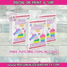 Party Gift Bags, Party Gifts, Brochure Paper, Custom Gift Bags, Craft Bags, Printing Labels, Reveal Parties, Picture Design, Digital Prints