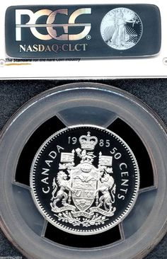 Canada 1985 Proof Like Fifty Cent Piece!!