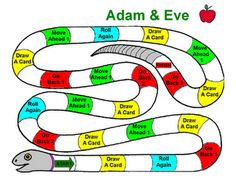 Adam and Eve File Folder Game - a great craft that may appeal to boys at BIG Kids Camp!