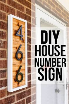 Make your front porch look more inviting by creating a DIY house number sign sharing the full step-by-step tutorial! Make your front porch look more inviting by creating a DIY house number sign sharing the full step-by-step tutorial! Rustic Home Interiors, Diy Signs, Home Projects, Home Remodeling, Diy Home Decor, New Homes, House Number Signs, Diy House Numbers, Rustic House Numbers