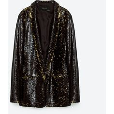 BLAZER WITH SEQUINS - EVENING-WOMAN | ZARA Ukraine (£26) ❤ liked on Polyvore featuring outerwear, jackets, blazers, sequined blazer, holiday blazer, sequin jacket, blazer jacket and special occasion jackets