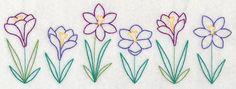 Springtime Crocus Border (Vintage)