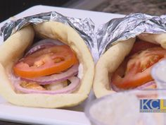 Pita Blue's Shrimp Yeero,Kansas City Live spotlights the people, places, trends and local attractions that make KC such a great place to live. Greek Fast Food, Blue Shrimp, Greek Gyros, Shrimp Recipes, Bagel, Mexican, Local Attractions, Bread, Spotlights