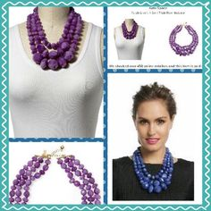 Kate Spade Give It A Swirl Triple Row Necklace Kate Spade New York Give It A Swirl Triple Row Necklace!!-12K gold-plated necklace with rows of African Violet colored faceted resin beads. Lobster clasp closure. Bundle with the listed Kate Spade bangles, earrings and sunnies for a complete set and discounted savings!! kate spade Jewelry Necklaces
