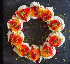 Apple rose tart these floral showstoppers make for beautiful dinner clementine cranberry pistachio meringue wreath xmas dessertsdinner party forumfinder Choice Image