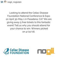 #Repost @nogii_nogluten with @repostapp.  You don't want to miss this wonderful event! Plus get free Nogii samples at the #Nogii booth! #CDFEXPO http://ift.tt/1QnIThS