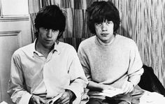 1963: Keith Richards and Mick Jagger seated and opening mail Picture: Hulton-Deutsch Collection/CORBIS