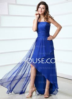 Holiday Dresses - $116.99 - Sheath One-Shoulder Asymmetrical Chiffon Holiday Dress With Ruffle (020017308) http://jjshouse.com/Sheath-One-Shoulder-Asymmetrical-Chiffon-Holiday-Dress-With-Ruffle-020017308-g17308