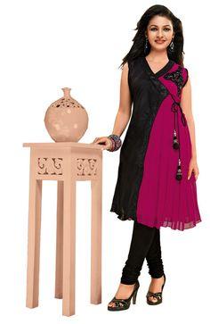 Designer Bollywood Long Anarkali Georgette #Kurti