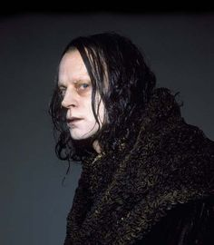 Brad Dourif as Grima Wormtongue in the LOTR films -- the inspiration for Roy Istvan, a cyborg.