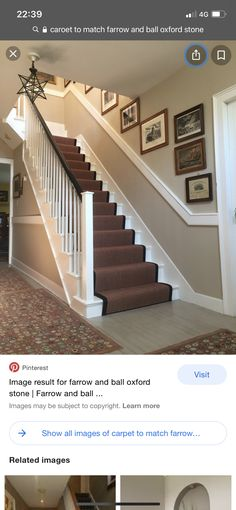 Farrow And Ball Oxford Stone, Stairs, Home Decor, Stairway, Decoration Home, Room Decor, Staircases, Home Interior Design