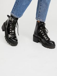 Check Lace-Up Boot from Free People!