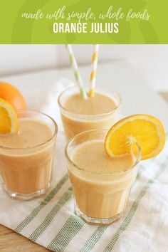 Orange julius recipe healthy kids recipes and snacks рецепты Super Healthy Kids, Healthy Meals For Kids, Kids Meals, Healthy Cooking, Whole Food Recipes, Snack Recipes, Healthy Recipes, Healthy Drinks, Simple Recipes
