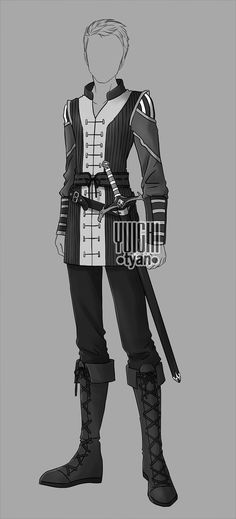 [closed] Auction BW Outfit men 14 by YuiChi-tyan
