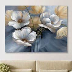 Our Scent of Summer I Giclee Canvas Art Print offers a breathtaking bouquet of brushed flower petals. You'll love the look of this whimsical, windswept design. Flower Painting Canvas, Floral Wall Art, Flower Art, Flower Petals, Art Flowers, Canvas Art Prints, Wall Art Decor, Art Projects, Artwork