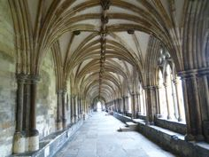 Cloister Norwich Cathedral, Norfolk - Photo taken in December 2011.
