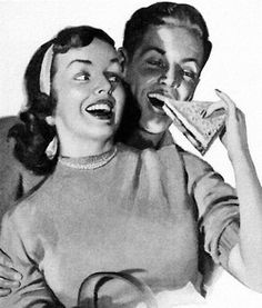 Grilled Cheese - detail from 1951 Bromo Seltzer ad. Source