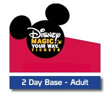 Kissimmee Guest Services - Disney 2 Day Adult Magic Your Way, $194.00 (http://www.kgstickets.com/disney-2-day-adult-magic-your-way/)   *Prices Subject to change without notice.