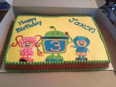 Team Umizoomi birthday cake