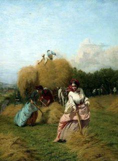 George Elgar Hicks (1824-1914) The Barley Harvest Oil on Canvas