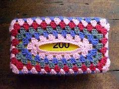 Granny Tissue Box Cover Tutorial  8ply yarn. 3.5mm crochet hook. Wool needle. Scissors. Tissue Box 12cmD x 21.5cmL x 8.5 cmH      This...