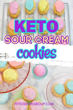 These keto sour cream cookies are the perfect low carb spring cookie. It wiill remind you of the old fashion cookies you grew up on. McCall's sour cream cookie recipe has nothing on these keto easter cookies! Sour Cream Cookies, Keto Cookies, Low Carb Sweets, Low Carb Desserts, Old Fashioned Sugar Cookies, Ketogenic Recipes, Keto Recipes, Ketogenic Diet, Sugar Free Desserts
