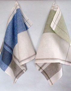 Ensemble de torchon ensemble rayures rayé cuisine serviettes Kitchen Towels, Hand Weaving, Napkins, Mandala, Stripes, Pattern, Dishcloth, Weaving, Kitchens