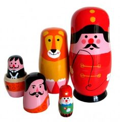 not just for the kiddywinks...a gorgeous set of nesting dolls in delicious colours