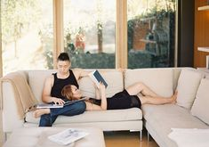 Modern home engagement shoot | photos by Caroline Tran | 100 Layer Cake