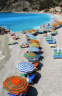 The beach in liguria, italy. My cousin lives here.