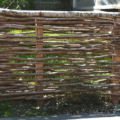 Bowser and Smith we did it all wrong! Trellis Fence, Fence Gate, Natural Fence, Natural Garden, Farm Projects, Good Neighbor, Forest House, Farm Gardens, Garden Crafts