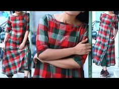 DIY Designer Daily Wear Front Slit Casual Kurti Full Tutorial - YouTube Salwar Suit Neck Designs, Silk Kurti Designs, Kurti Patterns, Dress Sewing Patterns, Sewing Ideas, Knitting Patterns, Blouse Tutorial, Smocking Tutorial, Sleeves Designs For Dresses