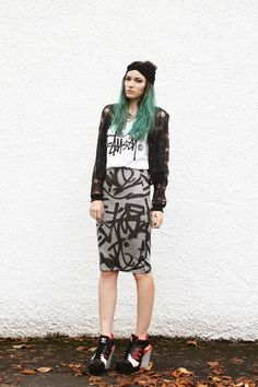 Sliced Bomber (Vague). Grunge FashionLove ... f38e6b800ba