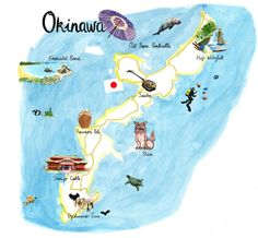 Map of Okinawa by Cassandre Montoriol