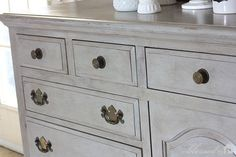 Dresser Turned Buffet Makeover using Annie Sloan Chalk Paint