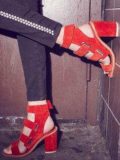 Sol Sana Lixer Heel at Free People Clothing Boutique #flatlay #flatlays #flatlayapp www.flat-lay.com