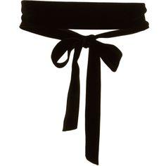 Velvet Ribbon Belt | Moda Operandi (840 NOK) ❤ liked on Polyvore featuring accessories, belts, jewelry, velvet belt and ribbon belt