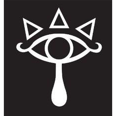 Zelda Eye of Truth Sticker Decal. White