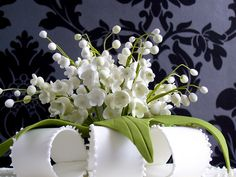 Awesome lily of the valley cake topper