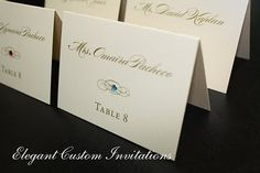 color of stone on the name card tells what meal they ordered - clever!