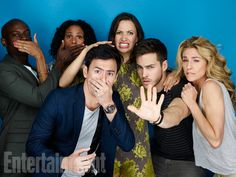 David Gyasi, Christina Marie Moses, George Young, Kristen Gutoskie, Chris Wood, Claudia Black, 'Containment' #EWComicCon  Image Credit: Michael Muller for EW