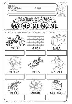 Atividade pronta - Família silábica do M - A Arte de Ensinar e Aprender