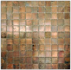 Metal Tile Copper Antique 1, Stainless Steel Brushed Tile, Mosiac metal tiles, copper tiles mosaic, Copper Antique