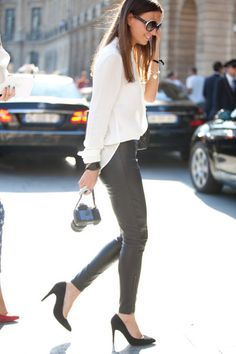 leather pants: it takes confidence love the shoes