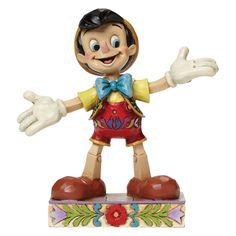 """4045249 Got No Strings (Pinocchio)- Always the performer, this Pinocchio """"got no strings"""" to hold him down #disney #collectable #jimshore"""