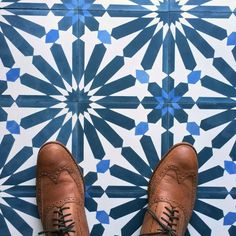 "Sam standing on our ""big al"" in color. cement tile 