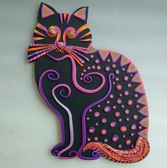 Sittin' Kitten Wall Art or Clock Sculpture in by MysticDreamerArt, $95.00