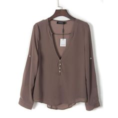 Sexy V Neck Long Sleeve Shirts Women New Brand Summer Casual Chiffon Blouses Ladies Plus Size
