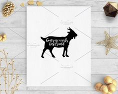 goats girls best friend clip art svg by palmettosvg on @creativemarket