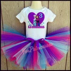 Frozen birthday outfit, Elsa and anna, frozen tutu set ,elsa tutu , Anna tutu , frozen dress